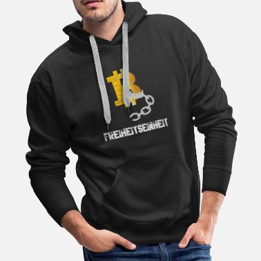 Currency Bitcoin BTC - Freedom Unit - Men's Premium Hoodie