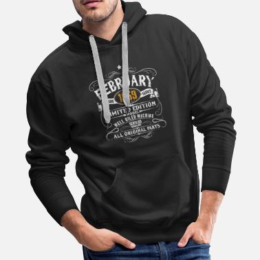 60th Birthday February 1959 60th Birthday Funny Vintage Gift - Men's Premium Hoodie