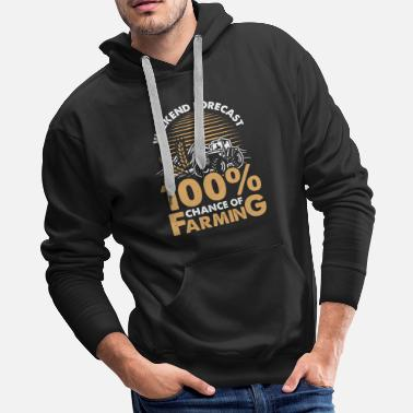 Cropped Farming weekend forecast - Men's Premium Hoodie
