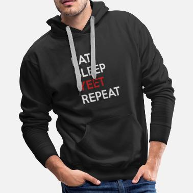 Pepe Eat sleep yeet repeat - Men's Premium Hoodie