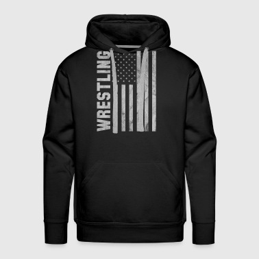 Shirt for wrestling fan as a gift - wrestling usa - Men's Premium Hoodie