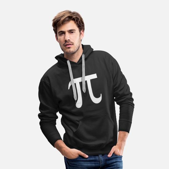 Geek Hoodies & Sweatshirts - Pi Symbol Day Geek Nerd Math College - Men's Premium Hoodie black