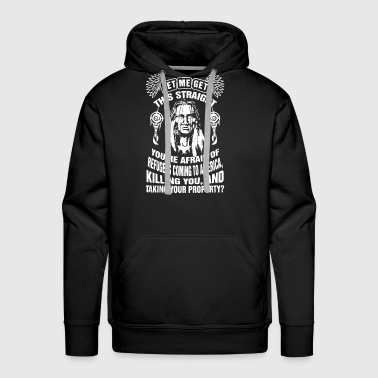 Let me get this straight you're afraid of refugees - Men's Premium Hoodie