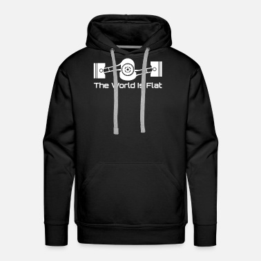 Wrx The World Is Flat Graphic Tee Subaru Boxer Engine - Men's Premium Hoodie