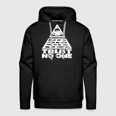 C One Trust No One Seeing Eye Funny College Illuminati C - Men's Premium Hoodie