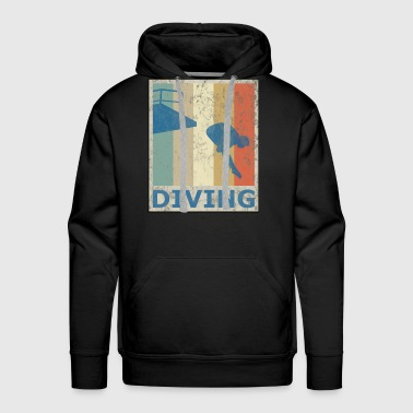 Retro Vintage Style Diving Diver Water Sports - Men's Premium Hoodie