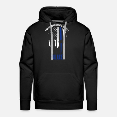 Bleed True Warriors Bleed Blue - Men's Premium Hoodie