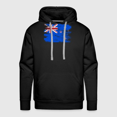 New Zealand Shirt Gift Country Flag Patriotic Travel Oceania Light - Men's Premium Hoodie