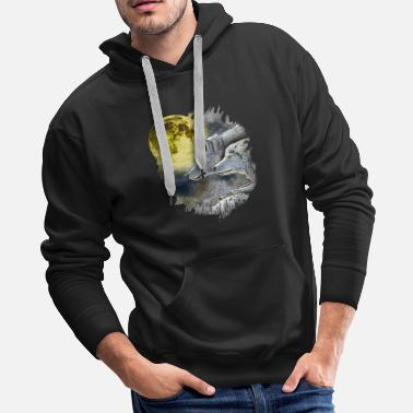 Dog Head Wolf Fantasy Wolves Animal Gift - Men's Premium Hoodie