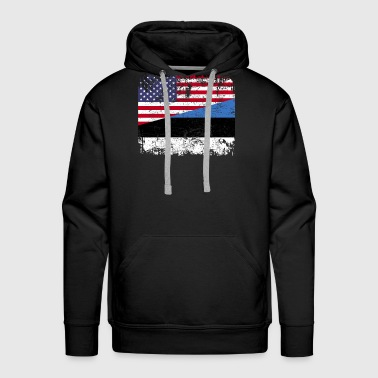 ESTONIAN ROOTS | American Flag | ESTONIA - Men's Premium Hoodie