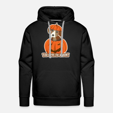 Halloween Puppy Too Cute To Spook Pumpkin Dog Tee - Men's Premium Hoodie