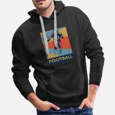 Rustic Football Rustic - Men's Premium Hoodie