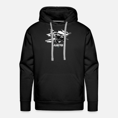 Hanger Ju87d WW2 fighter Airplane Gift Stuka - Men's Premium Hoodie