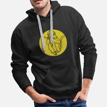 Piston flute transverse flute gift instrument music song - Men's Premium Hoodie