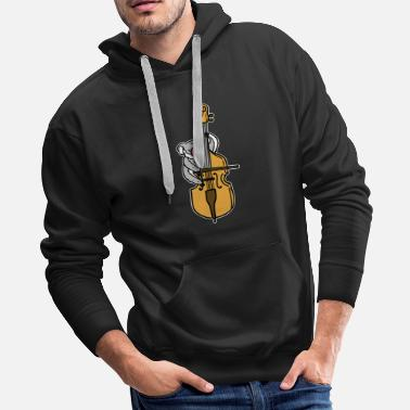 Music Note Cello Gift Song Musical Sound Instrument - Men's Premium Hoodie