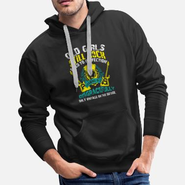 Old School Old Girls Still Rocks T Shirt - Men's Premium Hoodie