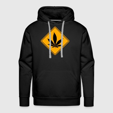 Cannabis Road Sign - Men's Premium Hoodie