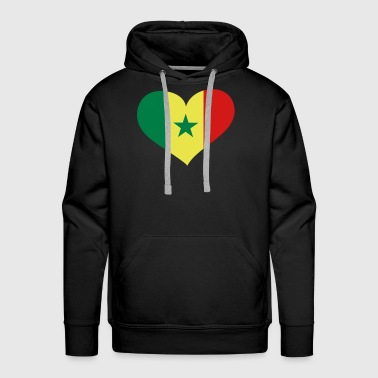Senegal Heart; Love Senegal - Men's Premium Hoodie