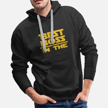 Sports Car Best Boss In The Galaxy Cool Gift - Men's Premium Hoodie