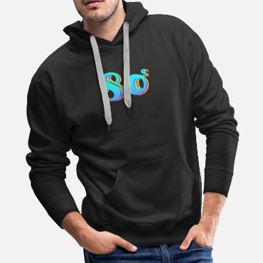 Cyberpunk 80s Synthwave Colorful 80s Gift - Men's Premium Hoodie