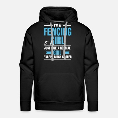 Fencing Fencing Girl Shirt - Men's Premium Hoodie