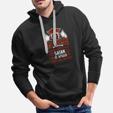 Fire I'm A Firefighter Red - Men's Premium Hoodie