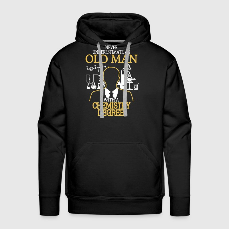 Old Man With Chemistry Degree - Men's Premium Hoodie