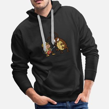 Ant Retro Vintage Grunge Style Pest Controllers - Men's Premium Hoodie