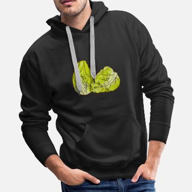 Cooking Retro Vintage Grunge Style Cabbage - Men's Premium Hoodie