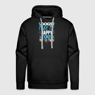 Dog Make Me Happy Dog make me happy - Men's Premium Hoodie