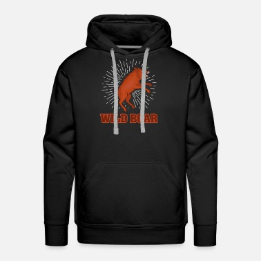 Raider wild boar pig wild animal gift outdoor hunting - Men's Premium Hoodie