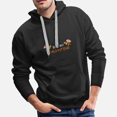 Engagement Party Valentine's Day Marriage Engagement Heart Romantic - Men's Premium Hoodie