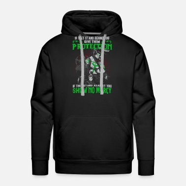 World Warcraft - If they stand against you show no mer - Men's Premium Hoodie