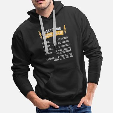 Electrician Electronician price hourly rate craftsman gift - Men's Premium Hoodie
