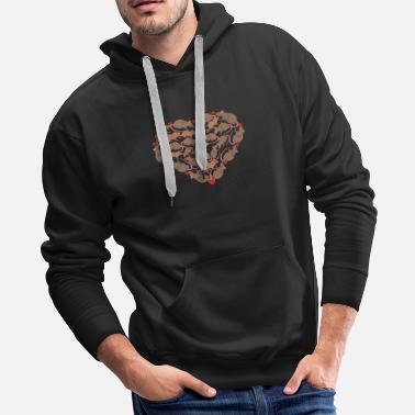 Happy valentines day new Rat t shirt - Men's Premium Hoodie