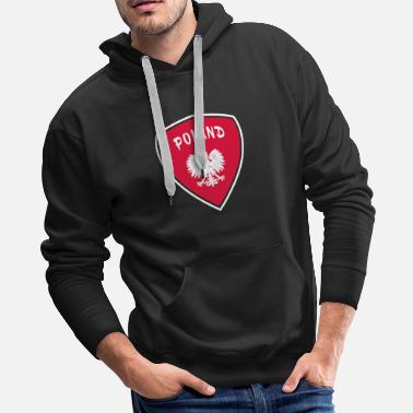 Warsaw Poland Coat of Arms National Colors Eagle Gift - Men's Premium Hoodie
