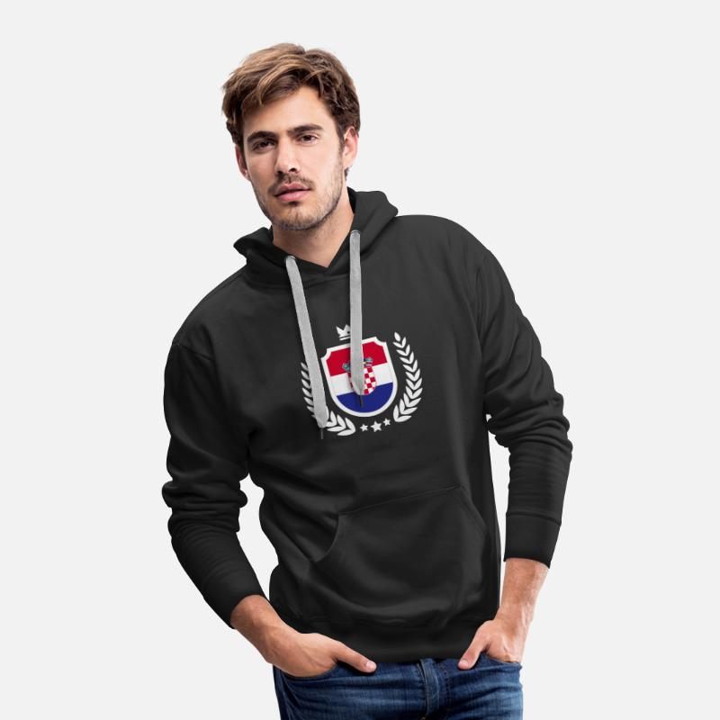 dcf0be5cabc Croatia - Soccer World Cup - Emblem Men's Premium Hoodie | Spreadshirt