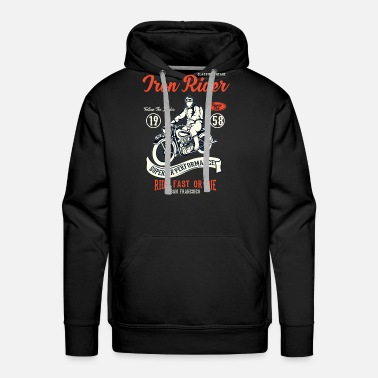 Iron Cross Iron Rider - Men's Premium Hoodie