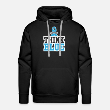 Breast Cancer Walk Think Blue Prostate Cancer Cancer Tee - Men's Premium Hoodie