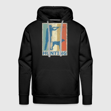 Retro Vintage Style Hunting Hunter Hunt Dog - Men's Premium Hoodie