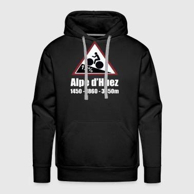 Alpe d'Huez Cycling Sign - Men's Premium Hoodie