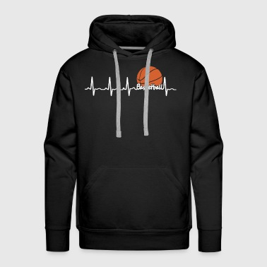 Basketball Heartbeat - Men's Premium Hoodie