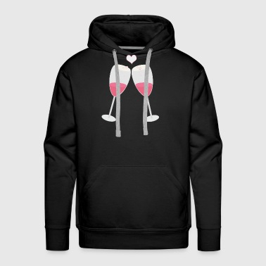 champagne glasses with heart - Men's Premium Hoodie