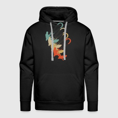 Vinate Retro Style Kite Surfing Wakeboarding - Men's Premium Hoodie