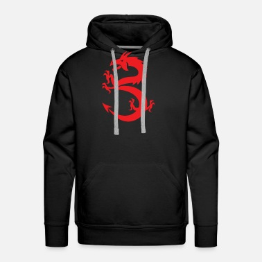 Red Dragon New Design Red Dragon Prancing Best Seller - Men's Premium Hoodie