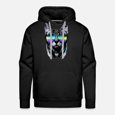 Hard Rock Music Lover Cat V II - Men's Premium Hoodie