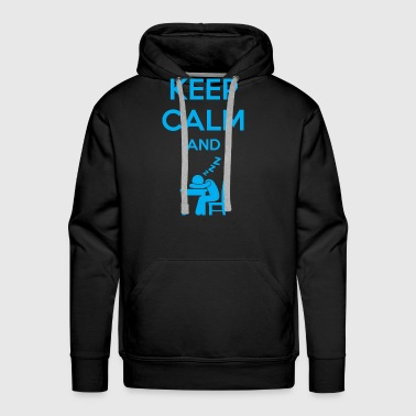 Keep Calm and Sleep - Men's Premium Hoodie