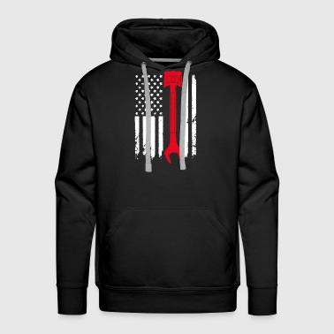 Mechanic Flag Shirt - Men's Premium Hoodie