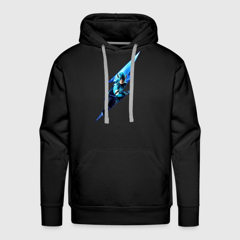 Flash Blue Lantern Ring - Men's Premium Hoodie