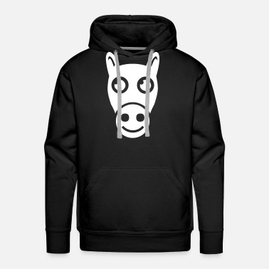 Visualization Drawing Of Happy Horse - Men's Premium Hoodie